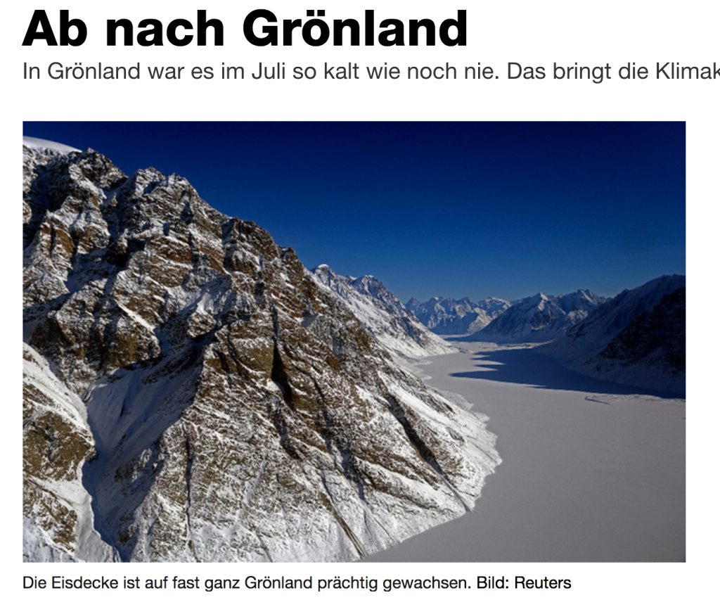 Everything You Have Read About Melting Greenland Is Wrong